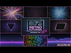 80s Retro Futurism Background Pack vol.2