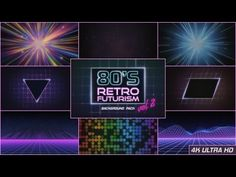 80s Retro Futurism Background Pack vol.2