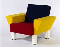 Westside Lounge, 1983 by Ettore Sottsass (Memphis) (foam, with wool upholstery)