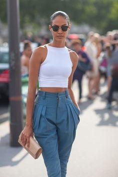 harpersbazaar:   Haute Couture Street Style: Fall 2013