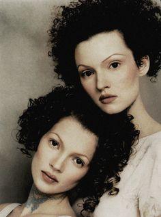 Kate Moss and Teresa Stewart by Mario Testino c.1993