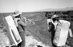 John Young and Charles Duke training for the Apollo 16 mission in the New Mexico desert.
