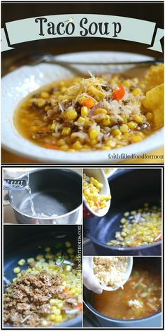 Single Serving Taco Soup and Use Up Those Leftovers This Taco Soup recipe is made completely of leftovers! It is SO simple and there is also a chicken taco soup recipe added for the full famliy size without using leftovers! Healthy Taco Soup, Healthy Tacos, Healthy Meals, Healthy Recipes, Best Soup Recipes, Meat Recipes, Delicious Recipes, Turkey Recipes, Yummy Food