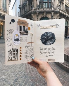 travel scrapbook I realize that the month April is almost over, but its never too late to create a bullet journal entry, right Im actually new to this Bullet Journal Entries, Creating A Bullet Journal, Bullet Journal Aesthetic, Bullet Journal Ideas Pages, Bullet Journal Inspo, Bullet Journal Spread, Journal Pages, Bullet Journal Travel, Scrapbook Journal