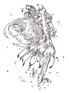 Papilleia: lineart by AngELofREbellion.deviantart.com on @DeviantArt