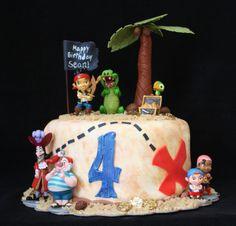Jake & the Neverland Pirates birthday cake.