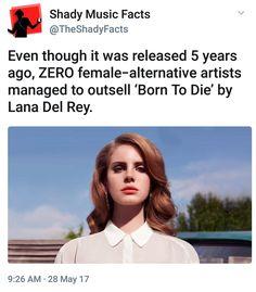 Queen of Alternative Lana Del Rey #LDR #facts