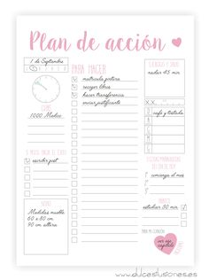 Plan diario ok 😍 Diy Agenda, Agenda Planner, Happy Planner, Bullet Journal School, Bullet Journal Inspiration, Printable Planner, Planner Stickers, Printables, Planner Diario