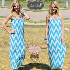 Match Made in Heaven Maxi This dress, a pair of flip-flops, and a warm breeze are like a Match Made in Heaven! Super comfortable & loose/flowy design in an adorable Mint chevron print. Features criss-cross spaghetti straps and lining to the knee.