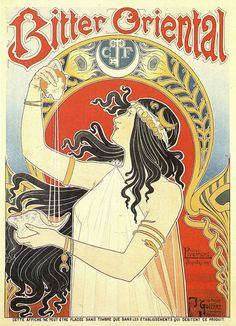 Art Nouveau Bitter Oriental by Henri Privat-Livemont c. 1897
