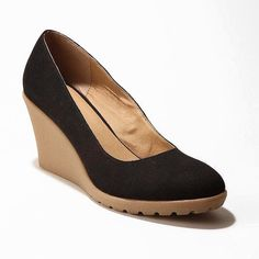 UO Cooperative | Canvas Gumsole Wedges These classic black wedges add a sophisticated look to any outfits  Great with dresses or skinny jeans! Gently worn, in excellent condition. Sorry no original box, will pack in a different one  No trades please  Urban Outfitters Shoes Wedges