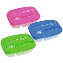 3-In-1 Plastic Food Storage Containers