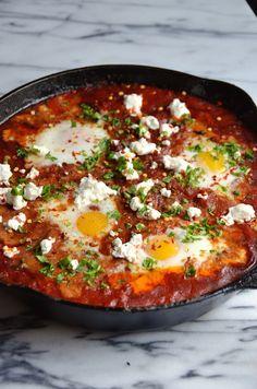 Spicy Chorizo Shakshuka - Always Order Dessert Food Recipes For Dinner, Food Recipes Homemade Chorizo Recipes, Spicy Recipes, Brunch Recipes, Mexican Food Recipes, Breakfast Recipes, Cooking Recipes, Healthy Recipes, Egg Recipes For Dinner, Tostadas