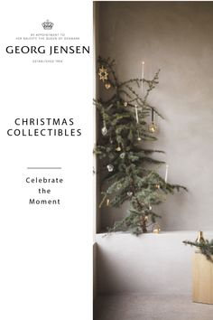 Minimal Scandinavian Christmas with gold plated ornaments from Georg Jensen. The ornament is beautifully crafted from brass and then 18 karat gold-plated in Georg Jensen's own workshop in Denmark. Distinctively Georg Jensen. Add Nordic style to your Christmas. #scandinavianchristmas #Christmas2019 #georgjensen #ornament #minimalchristmas