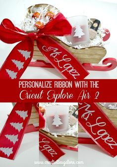 the cricut explore air 2 is great for many diy projects including personalizing ribbon i am sharing how easy it is to personalize ribbon for your gifts