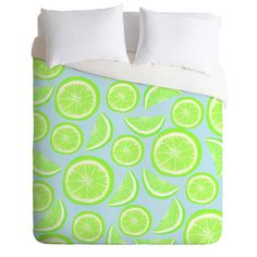 Lisa Argyropoulos Simply Lime Blue Duvet Cover | DENY Designs Home Accessories