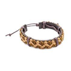 Bracelet Fantaisie Cuir & Laine Homme Bracelet Cuir, Bracelets, Jewelry, Fashion, Look Casual, Wool, Accessories, Moda, Jewlery