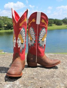 Macie Bean Red Rodeo Indian Chief Boots  http://www.cowgirlkim.com/macie-bean-red-rodeo-indian-chief-boots.html