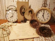 vintage photo display nesting