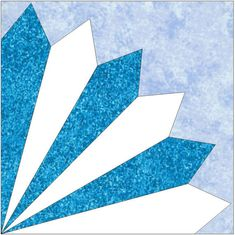 6 Blade Fan Paper Piece Foundation Quilting by QuiltingSupport, $3.50