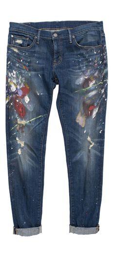 Le jean skinny et décontracté, entièrement taché de peinture, signé Denim & Supply Ralph Lauren