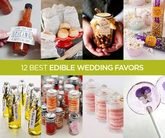 Take a look at these 12 Best Edible Wedding Favors.