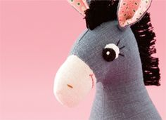 How-Tuesday: Make a Donkey Softie on Etsy
