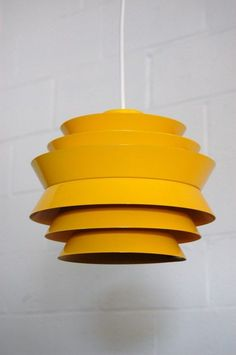 Carl Thore; Painted Aluminum Ceiling Light, 1960s.