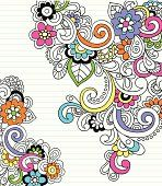 Groovy 사이키델릭 추상적임 노트북 Doodles