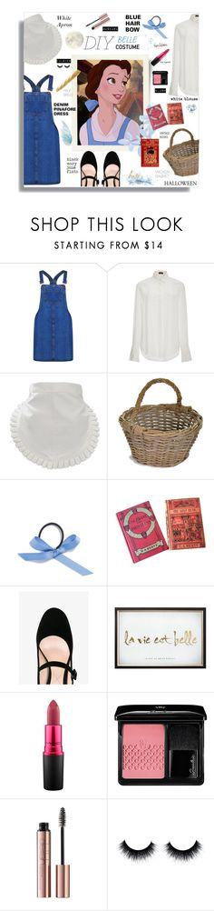 """DIY Belle Costume"" by jafashions ❤ liked on Polyvore featuring Disney, Boohoo, Joseph, Garden Trading, L. Erickson, Nicholas Kirkwood, Graham & Brown, MAC Cosmetics, Guerlain and contest"