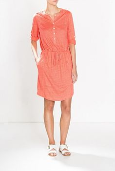 Linen Henley Dress Women Wear, Summer 2015, Casual, Clothes, Dresses, Fashion, Outfits, Vestidos, Moda