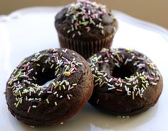 Chocolate Honey-dipped Donuts and Cupcakes