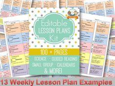Printable Lesson Plans for Preschool, Pre-K, and Kindergarten