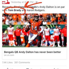 What's that you say Sports Illustrated? #andystheman #redrocketonfire #whodeynation