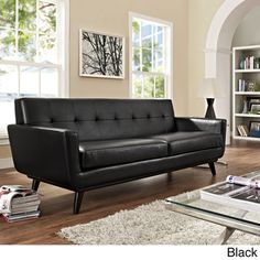 Axel Leather Sofa 89 Quot Bench Cushions Leather Sofas