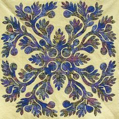 Beautiful quilted Hawiian applique ~ A Bit of Yellow: Hand Quilting