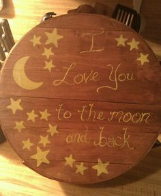 Another cheese box craft! Stained wood with a quote I share with my daughters! Sentimental decoration!