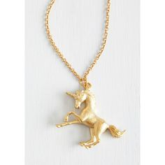 Quirky The Golden Unicorn Necklace ($18) ❤ liked on Polyvore featuring jewelry, necklaces, unicorn, heart shaped necklace, golden necklace, heart jewelry, golden jewelry and heart necklace