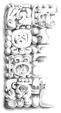 Mayan Prophecy Glyphs by Gabriel Martínez Meave, via Behance