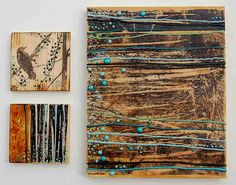 Forest Crow, Forest Dream & Blue Forest by Susan Najarian Art Wax Art, Encaustic Painting, Art Plastique, Art Techniques, Art Tutorials, Painting Inspiration, Collage Art, Art Lessons, Blue Forest