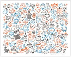 Happy Doodle Land: Crazy Happy Doodles