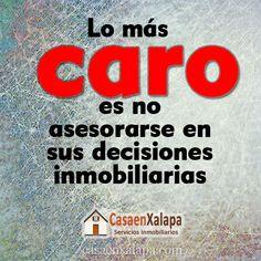 Lo-mas-caro-es-no-asesorarse, Inmobiliaria Casa en Xalapa