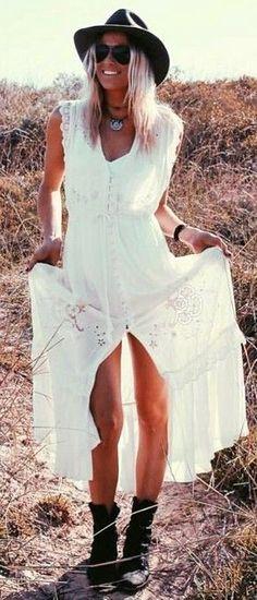 #spellandthegypsycollective #boho #outfits    White Boho Maxi Dress