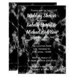 Black & White Marble Stone Couples Wedding Shower Card