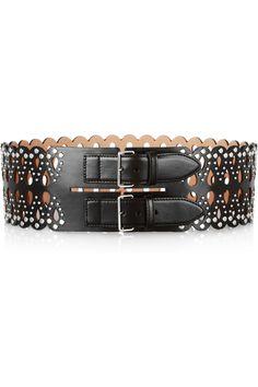 Alaïa Studded laser-cut leather waist belt NET-A-PORTER.COM