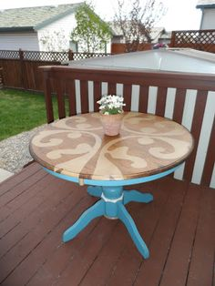 I see SO MANY of these tables.  I may have to try this on one of them.