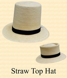 54a8076417b 1850s through 1890s men s Victorian straw top hats