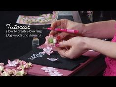 How to Create Flowering Dogwoods and Stamens - Flowering Dogwood Collection - YouTube