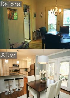 Just change the chairs... #KBHome Kitchen dining combo. This could ...