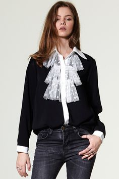 Stella Dot Ruffle Blouse Discover the latest fashion trends online at storets.com